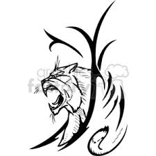 royalty free wildcat tattoo 373341 vector clip art image eps