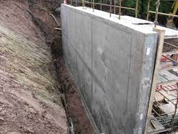 poured concrete retaining wall design concrete retaining walls