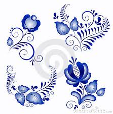 gzhel a brand of russian ceramics has special white and blue