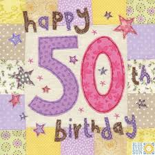 50th Birthday Cards For Happy 50th Birthday Card Large Luxury Birthday Card Karenza