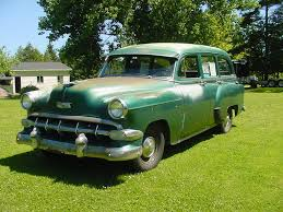 green station wagon 1954 chevrolet 53 chevy 54 station wagon model 150 4 door