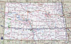 Illinois Map Of Cities by Large Detailed Roads And Highways Map Of North Dakota State With