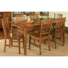 home styles arts crafts 7 piece dining set cottage oak hayneedle
