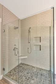 Nw Shower Door Walk In Master Shower With Fully Tiled Shower Walls And Clear