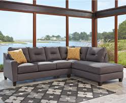 Sleeper Sofa With Chaise Benchcraft Kirwin Nuvella Sectional With Right Chaise In