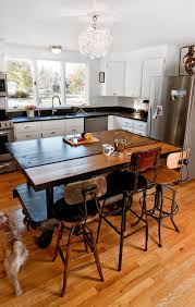 wood kitchen island table charming ideas kitchen island table on wheels portable kitchen
