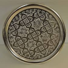 engraved tray engraved serving moroccan tray by skoura notonthehighstreet