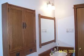 arts and crafts bathroom vanity mirror and medicine cabinet by