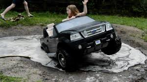 Chevy And Ford Truck Mudding - high volts pw girls get stuck in powerwheels ford f 150