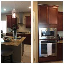 How To Lighten Up A Kitchen With Cherry Cabinets And Darker Counters - Pictures of kitchens with cherry cabinets