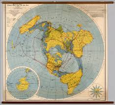 Blank Hemisphere Map by Northern Hemisphere Polar View David Rumsey Historical Map