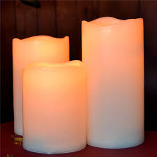 set of 3 resin flameless battery operated 3 inches led votive
