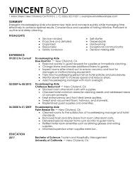 Resume Templates For Housekeeping Housekeeping Resume Sles Free Resumes Tips