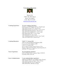 resume template sle 2017 ncaa brilliant ideas of football coach cover letter resume soccer coach