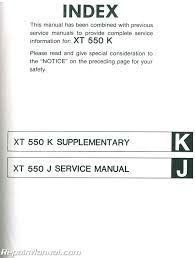 1982 1983 yamaha xt550 service manual