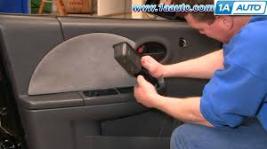 how to install replace remove front door panel saturn ion 03 07