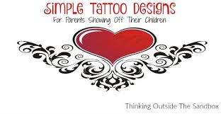 simple designs for parents showing their children