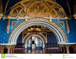 beautiful interior in palace of culture iasi romania stock photo