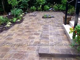 paver patio edging garden design with lewis landscape services paver patios portland