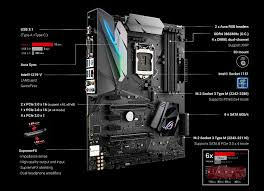 asus lga 1151 strix gaming intel z270 atx motherboard black
