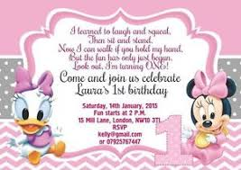 10 x personalised birthday invitations thank you cards baby mickey