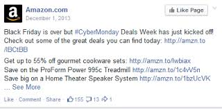 amazon black friday deal page how brands use social media on cyber monday ignite social media