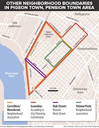 New Orleans Airport Map by Pigeon Town Or Pension Town In One New Orleans Neighborhood That