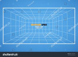 wireframe grid space room 6x8 unit stock vector 150082790