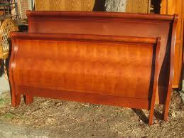 Cherry Wood Sleigh Bed Bed Frames Wallpaper Hi Def Sears Mattress Sale Sleigh Beds Full