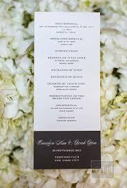 wedding ceremony program sle ideas for wedding programs