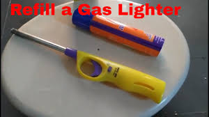 how to refill a gas lighter youtube