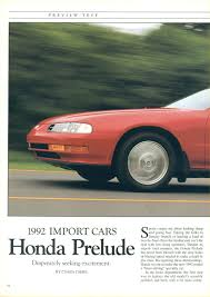 the prelude magazine articles and reviews thread honda tech
