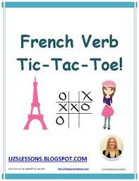 tic tac toe french verb game by liz u0027s lessons teachers pay teachers
