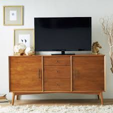 Modern Media Storage Furniture by Mid Century Media Console Large West Elm