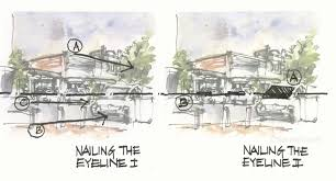 sketching a street scene without perspective urban sketchers