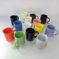 1 dollar store items glaze color ceramic coffee mug v shape solid