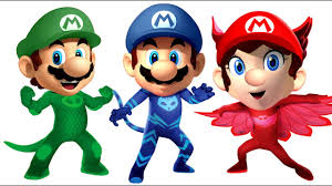 pj masks super mario wrong heads coloring pages for kids youtube