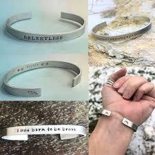 personalized cuff bracelet personalized sports cuff mantra jewelry running bracelet