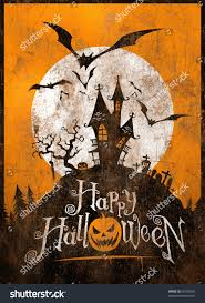 vintage halloween metal signposter illustration stock illustration