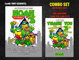 ninja turtles invitation tmnt birthday diy printable grey