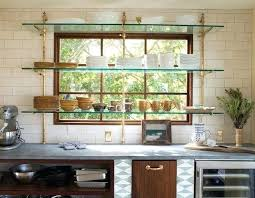 kitchen window design ideas kitchen window shelves this bistro shelving a