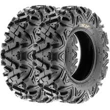 pair of 2 sunf a033 atv utv at tires 2 24x8 12 6 pr