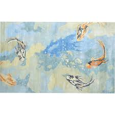 Fish Area Rug Koi Fish Rug World Menagerie Marlon Koi Fish Area Rug Reviews