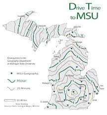 Michigan State University Map by Nick Perdue