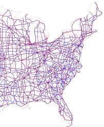 Half Of The United States Good Roads Movement Musings On Maps