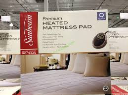 sunbeam premium quilted heated mattress pad queen or king
