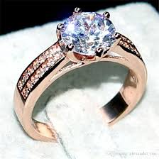 real wedding rings images 2018 luxury jewelry real 100 925 sterling silver rose gold jpg