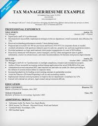 Sample Resume Computer Technician by Tax Manager Resume Other Pinterest