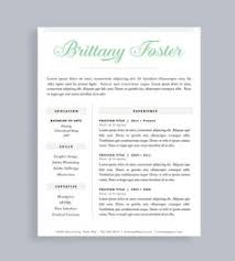 Best One Page Resume Format by Resume Template And Cover Letter For Word And Pages Two Page