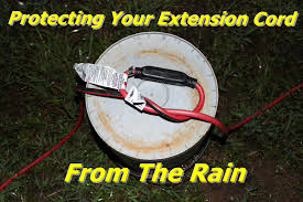 protecting your extension electrical cord connector ends from the